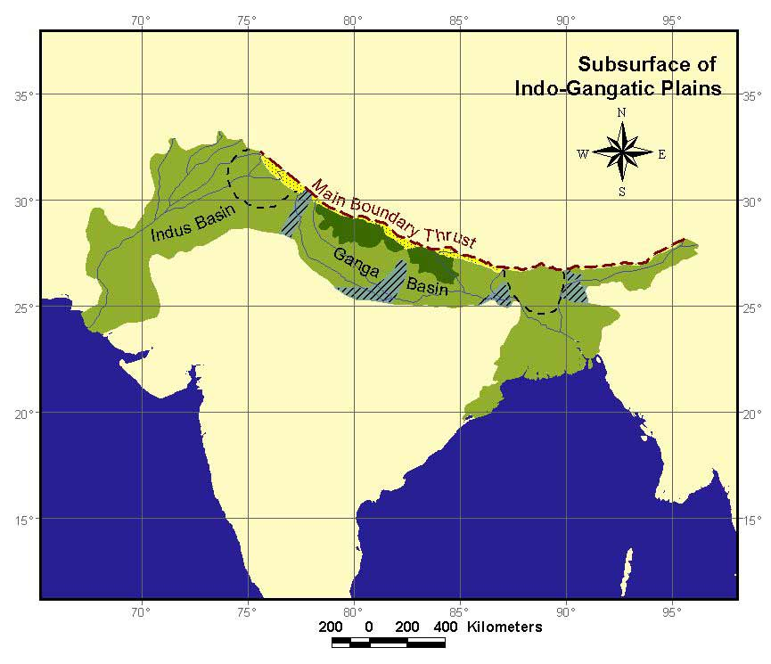 Map of Indo-Gangetic Plains