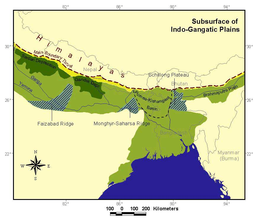 Indo-Gangetic Plain: 3 Divisions of the Ganga Plain in India
