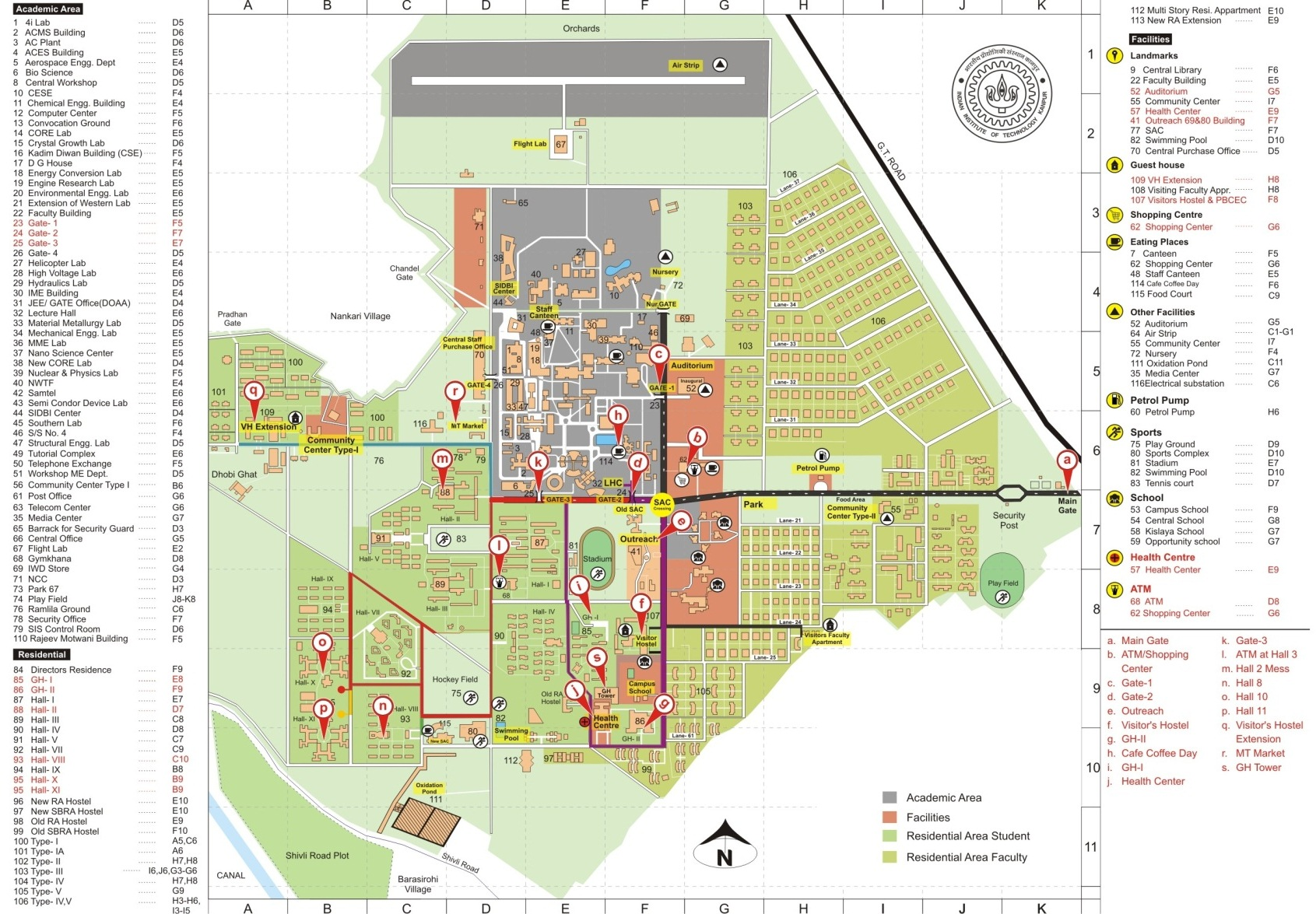 iit kanpur campus map Ncc 2014 iit kanpur campus map