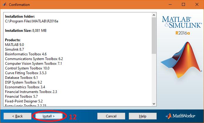 provide file installation key matlab r2016a