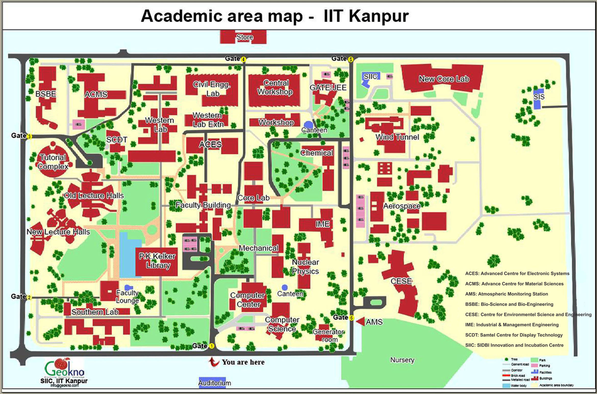 map of academic area