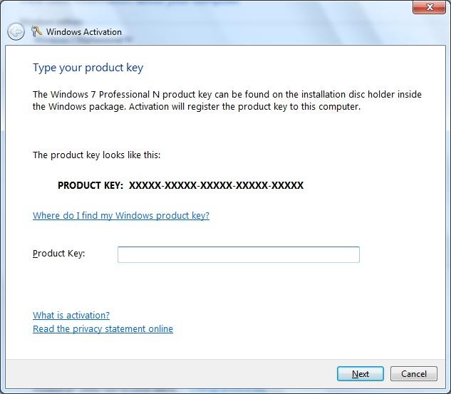 check windows 7 activation key